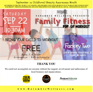 Free Family Fitness Pop-up Workout