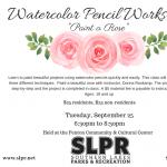 Watercolor Pencil Workshop - Roses