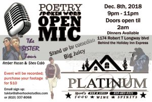 Neo Soul, Comedy, and Spoken Word
