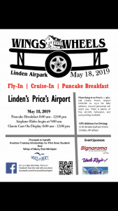 Wings and Wheels Pancake breakfast at Linden Price Airport