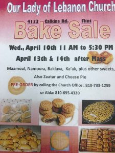 Our Lady of Lebanon BAKE SALE