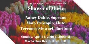 Nancy Dahle, Soprano, Mary Procopio, Flute, Terrence Stewart, BaritioneC