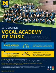 UM-Flint Summer Vocal Academy of Music