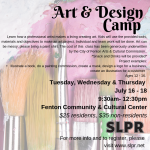 Art & Design Camp, Ages 12 - 16
