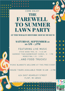 Say Farewell to Summer Lawn Party