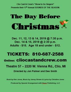 The Day Before Christmas December 11th-15th 2019