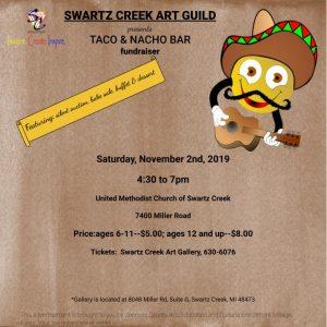 Swartz Creek Art Guild Presents Silent Auction Taco Bar Fundraiser