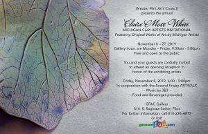 Claire Mott White Michigan Clay Artists Invitation...
