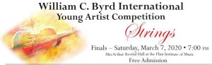 William Byrd Young Artist Competition-Strings