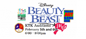 Auditions for Kidz Theatre Kompany's Beauty and the Beast Jr.