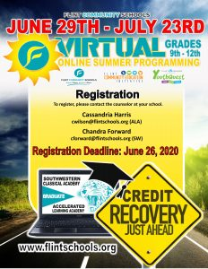 Flint Community Schools Virtual Credit Recovery - Online Summer Programming