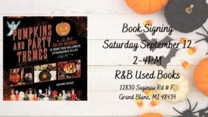Book Signing for Pumpkins and Party Themes