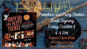 Pumpkins and Party Themes Book Signing at Fenton's...