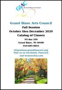Grand Blanc Arts Council's Fall Session Catalog