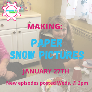 Virtual Preschool: Making Paper Snow Pictures