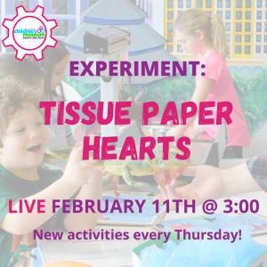 Facebook Live Programming: Tissue Paper Hearts
