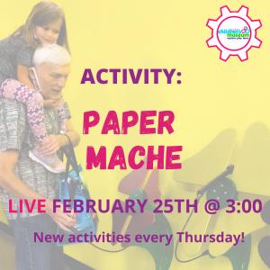 Facebook Live Programming: Paper Mache