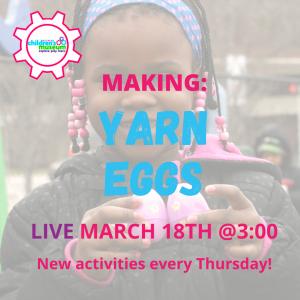 Facebook Live Programming: Yarn Eggs