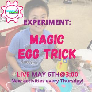 Facebook Live Programming: Magic Egg Trick