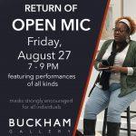 Return of Open Mic at Buckham Gallery