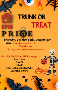 Epic Pride Trunk or Treat