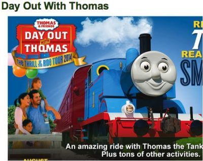 Day Out With Thomas: The Celebration Tour 2015 Coming to Crossroads Village & Huckleberry Railroad
