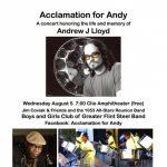 Acclamation for Andy