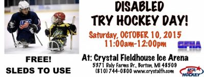 Disabled Try Hockey for FREE - Sleds for Hockey