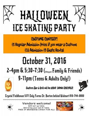HALLOWEEN ICE SKATING PARTY!