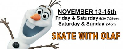 Skate with Olaf at Crystal Fieldhouse Ice Arena