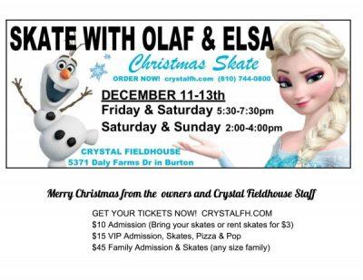 Skate with Olaf & Elsa