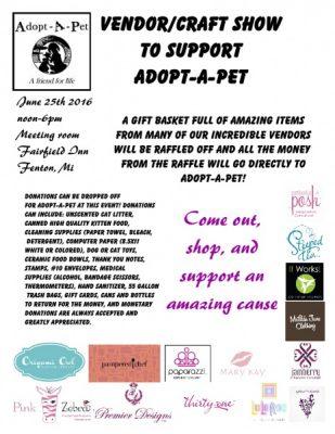 Vendor/Craft show to support Adopt-A-Pet