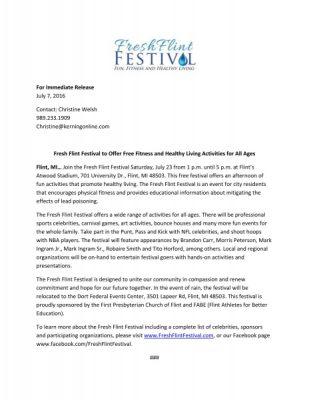 Fresh Flint Festival
