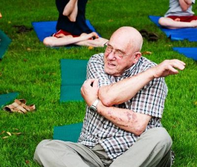 Yoga in the Gardens of Applewood Estate