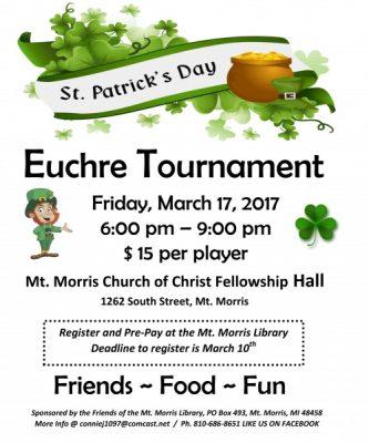St. Patrick's Day Euchre Tournament