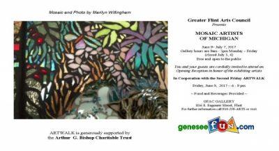 MOSAIC ARTISTS OF MICHIGAN - ARTWALK