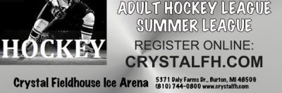 Adult Summer Hockey League July 12-August 30